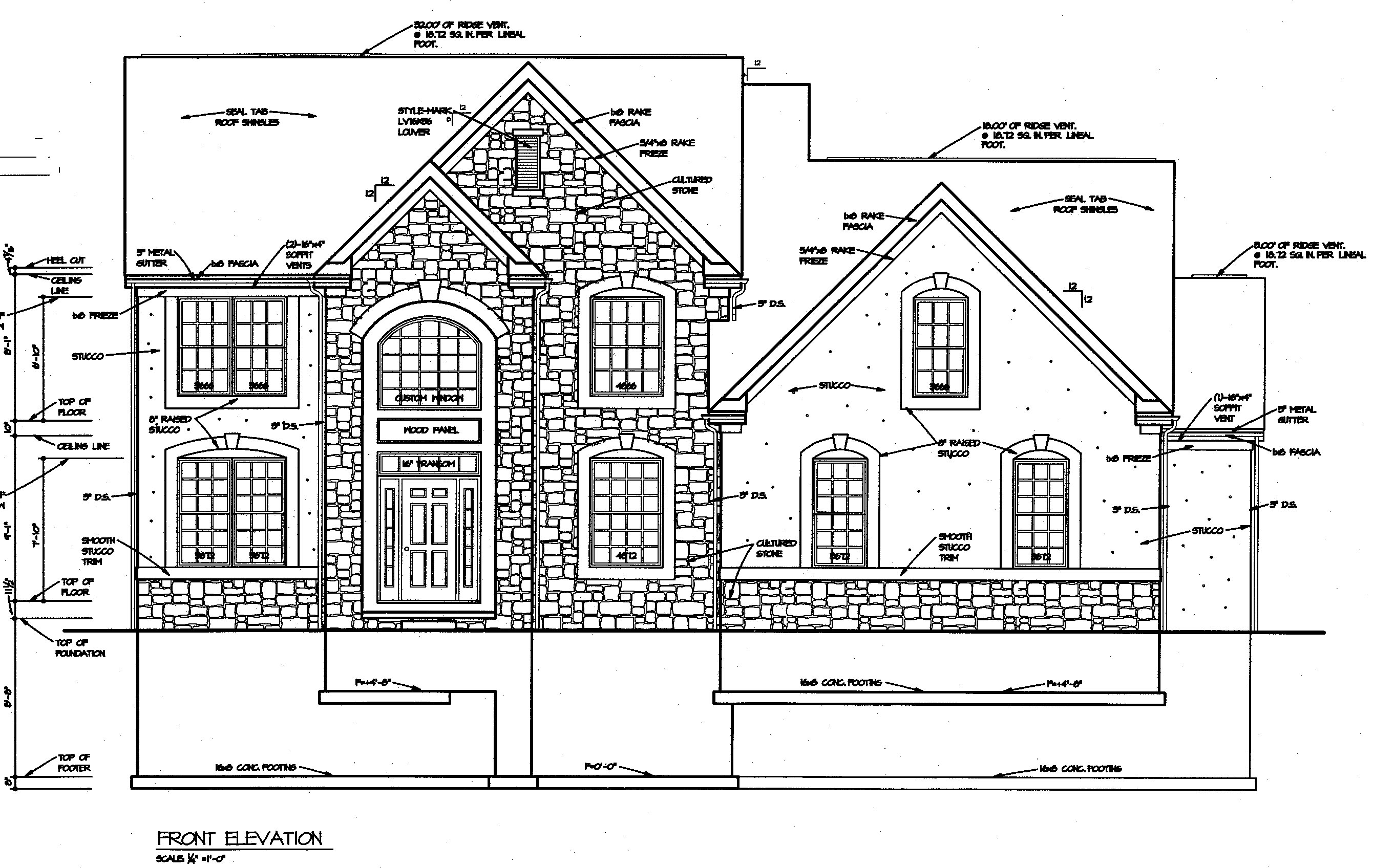 Sample Front Elevation U : Pin more front elevation blueprint pictures on pinterest